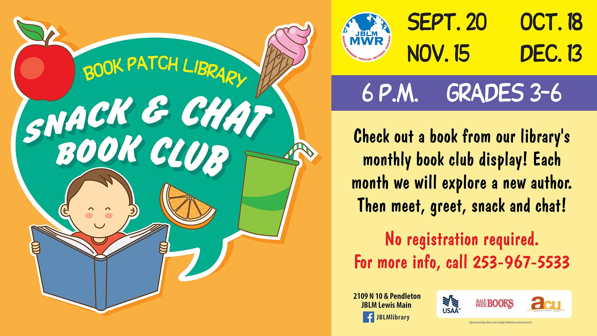 Snack and Chat Book Club