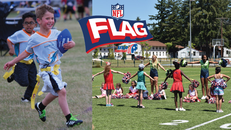Spring Flag Football & Cheerleading registration