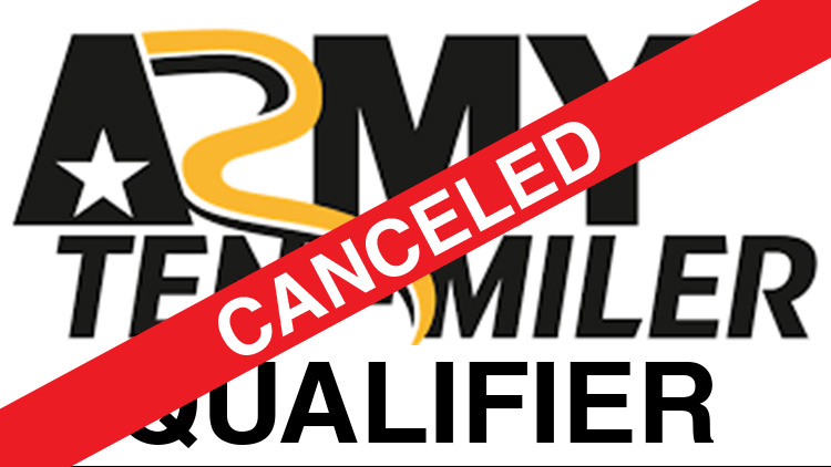 Army 10-Miler Qualifier CANCELED