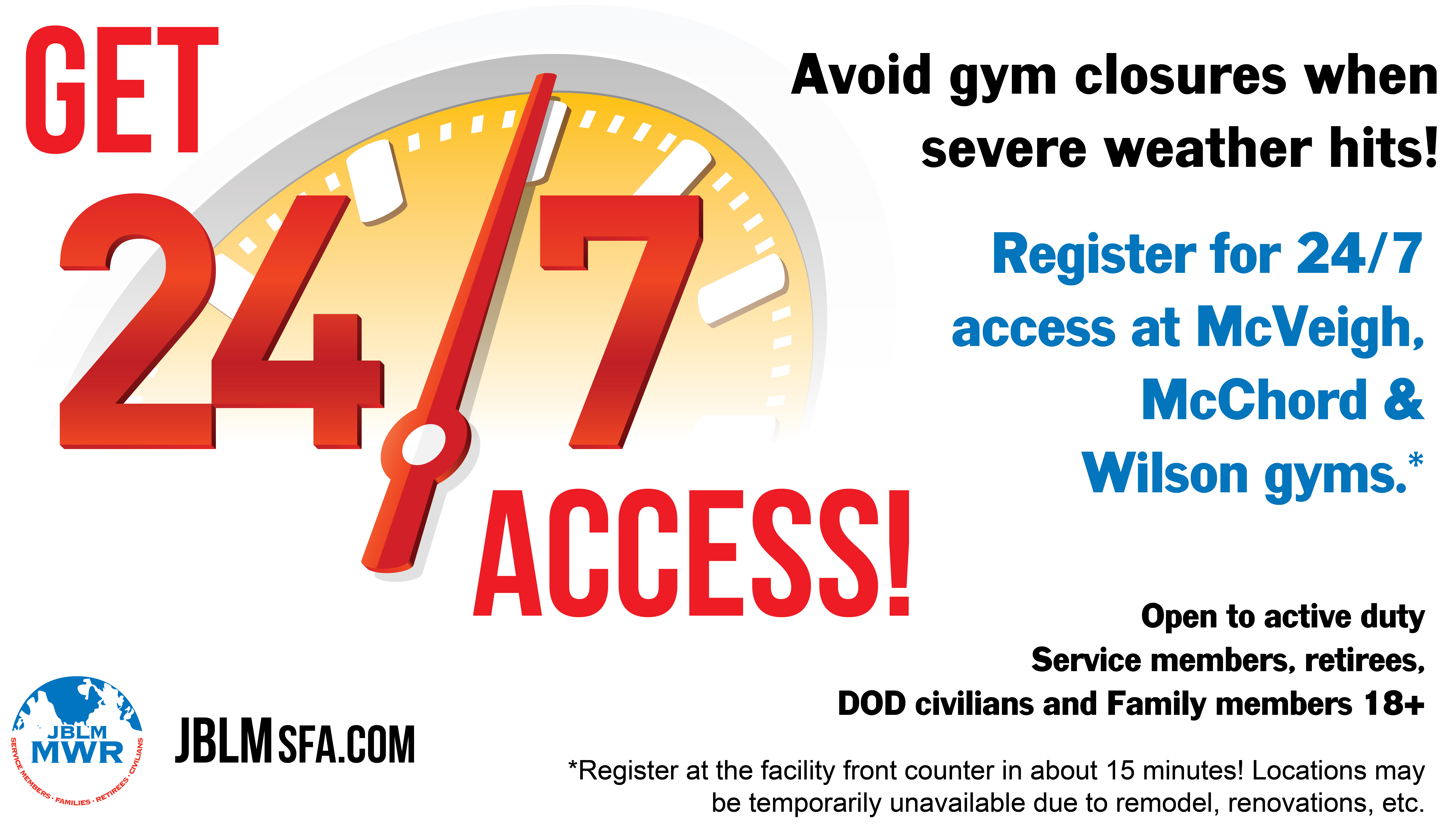 Register for access before severe weather hits