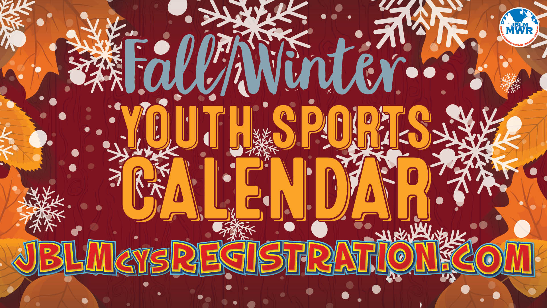 Fall/Winter Youth Sports Calendar