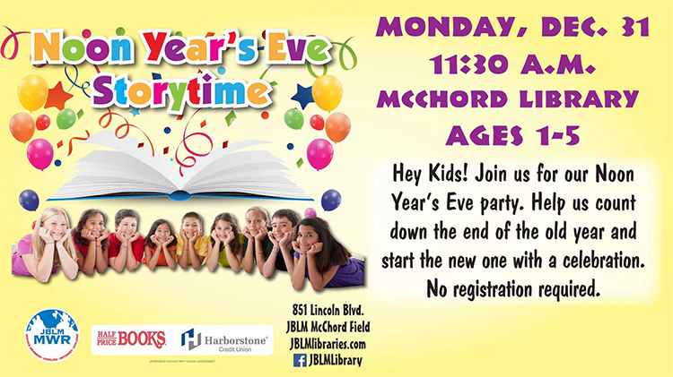 Noon Year's Eve Storytime
