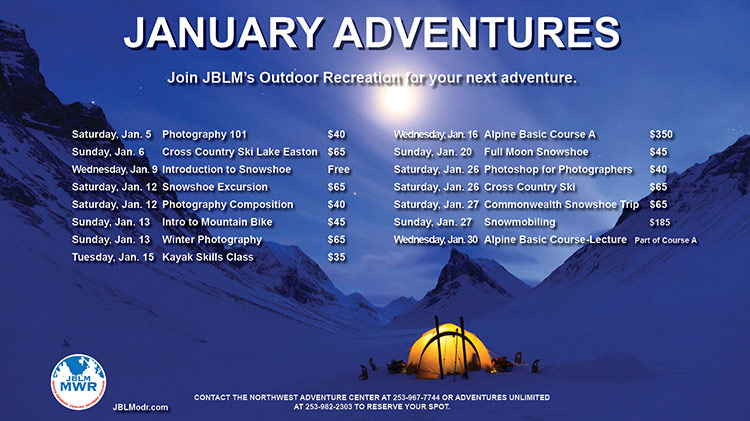 Outdoor Rec January Trips