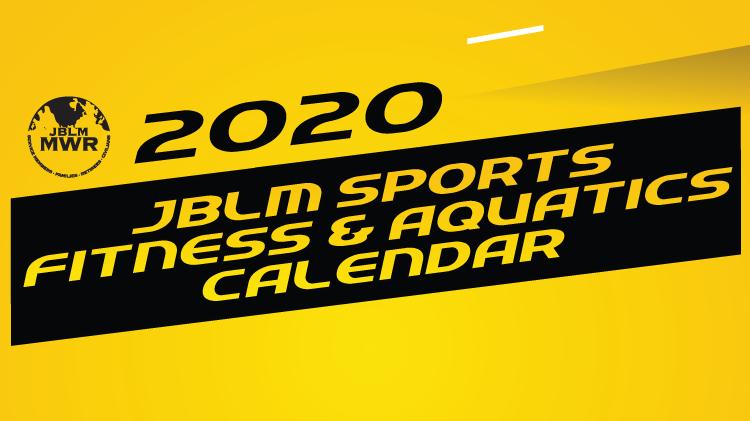 2020 Sports, Fitness & Aquatics Calendar