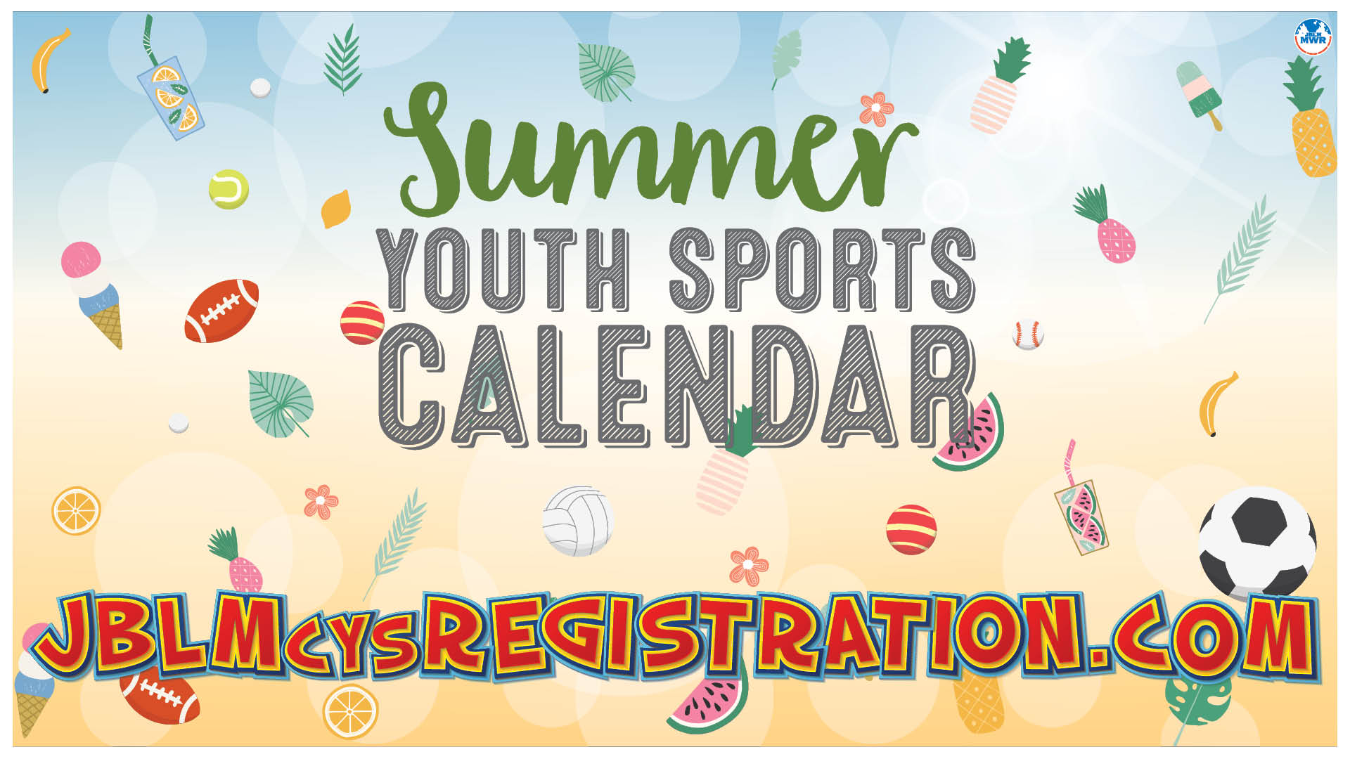 Summer Youth Sports Calendar