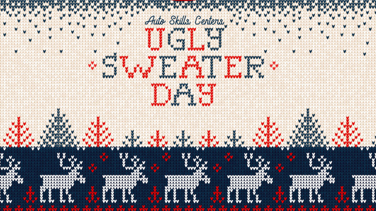 Auto Skills Ugly Sweater Day