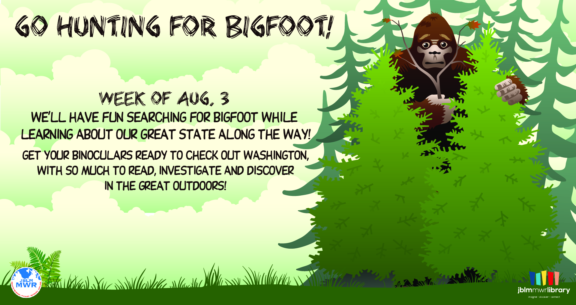 Virtual Summer Reading Program: Go hunting for Bigfoot!