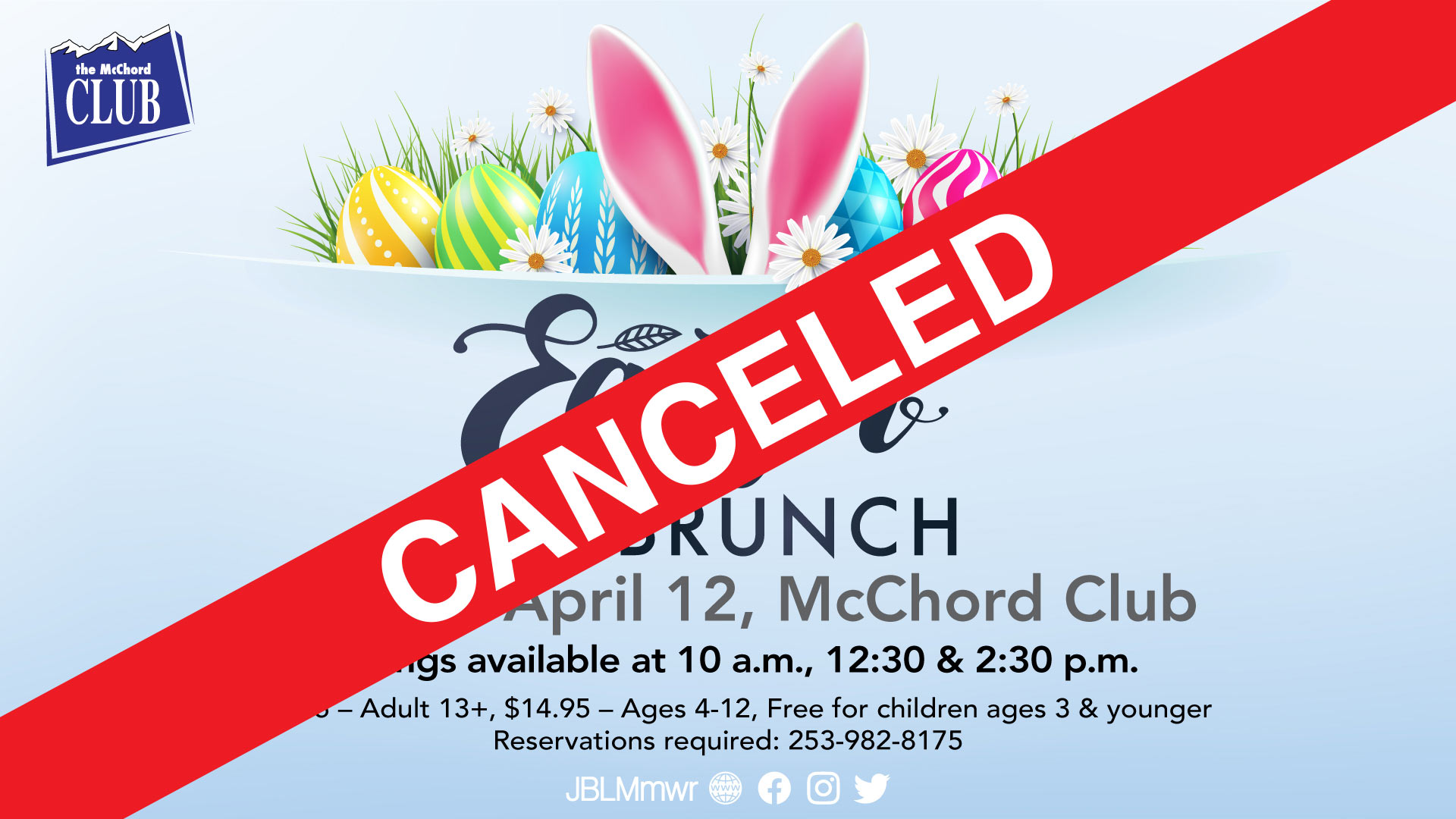 Easter Brunch CANCELED