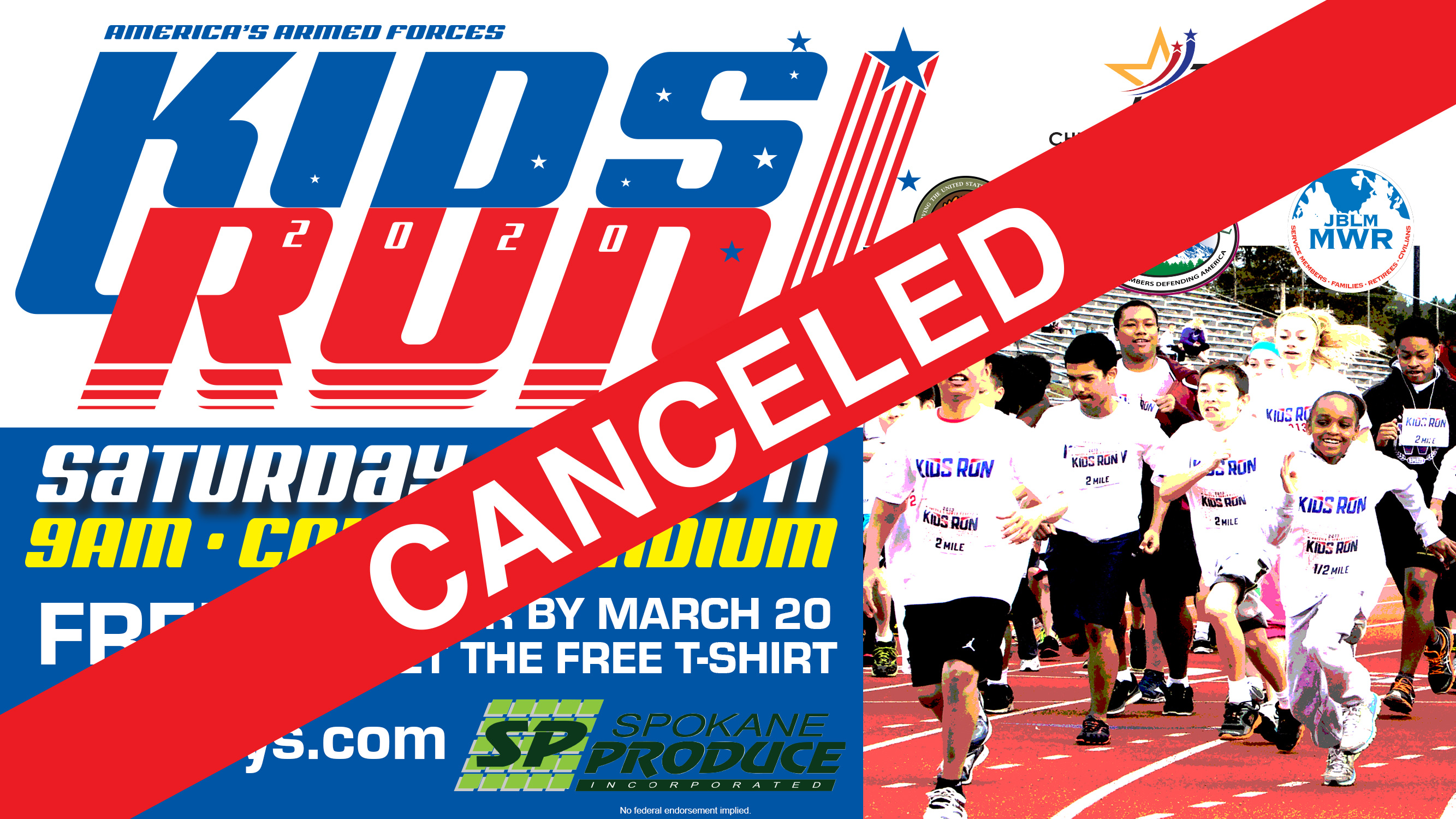 Armed Forces Kids' Run CANCELED