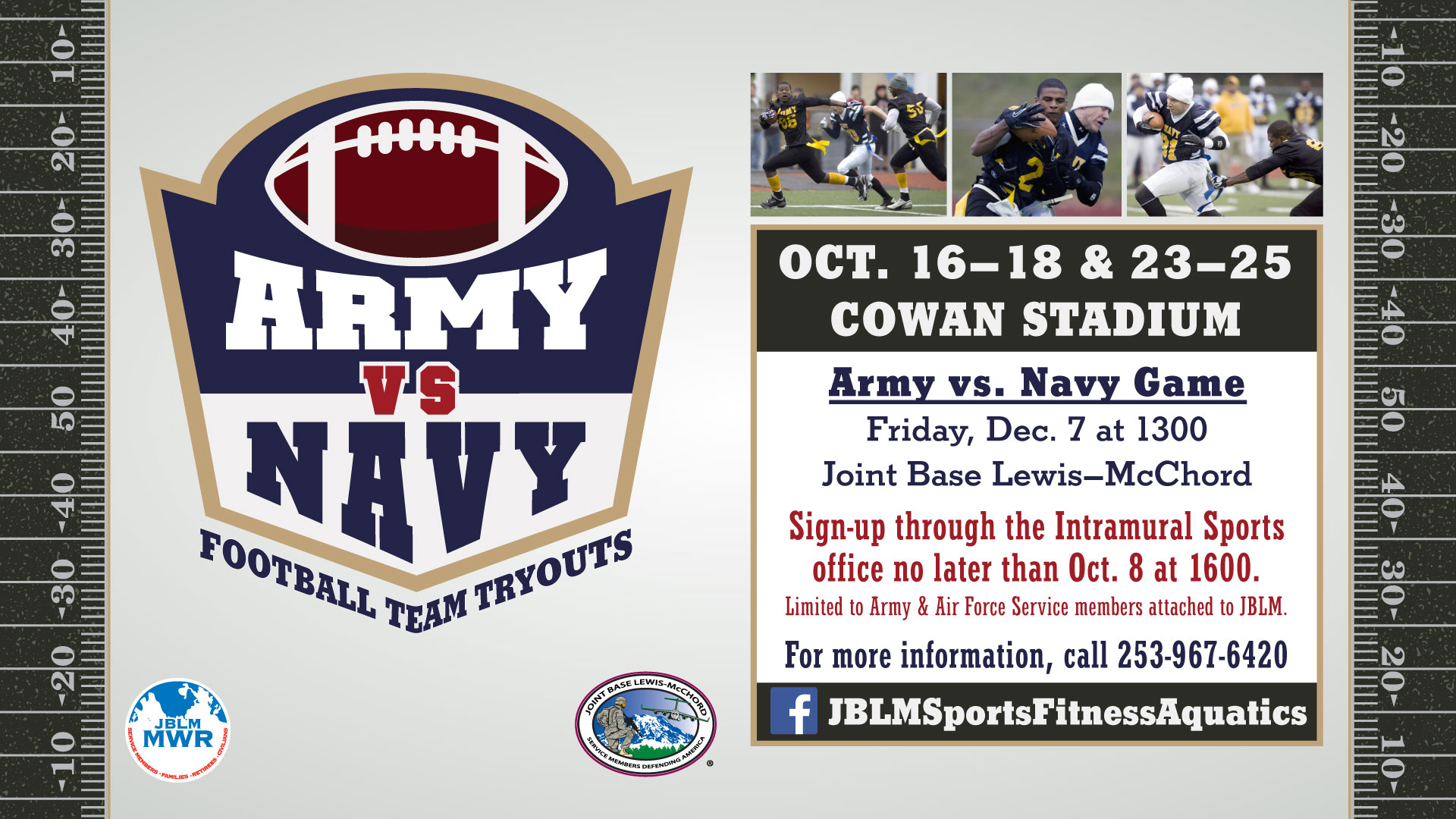 Army vs. Navy Flag Football Team Tryouts