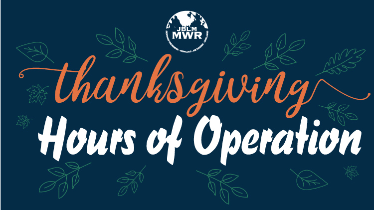 Thanksgiving Hours of Operation