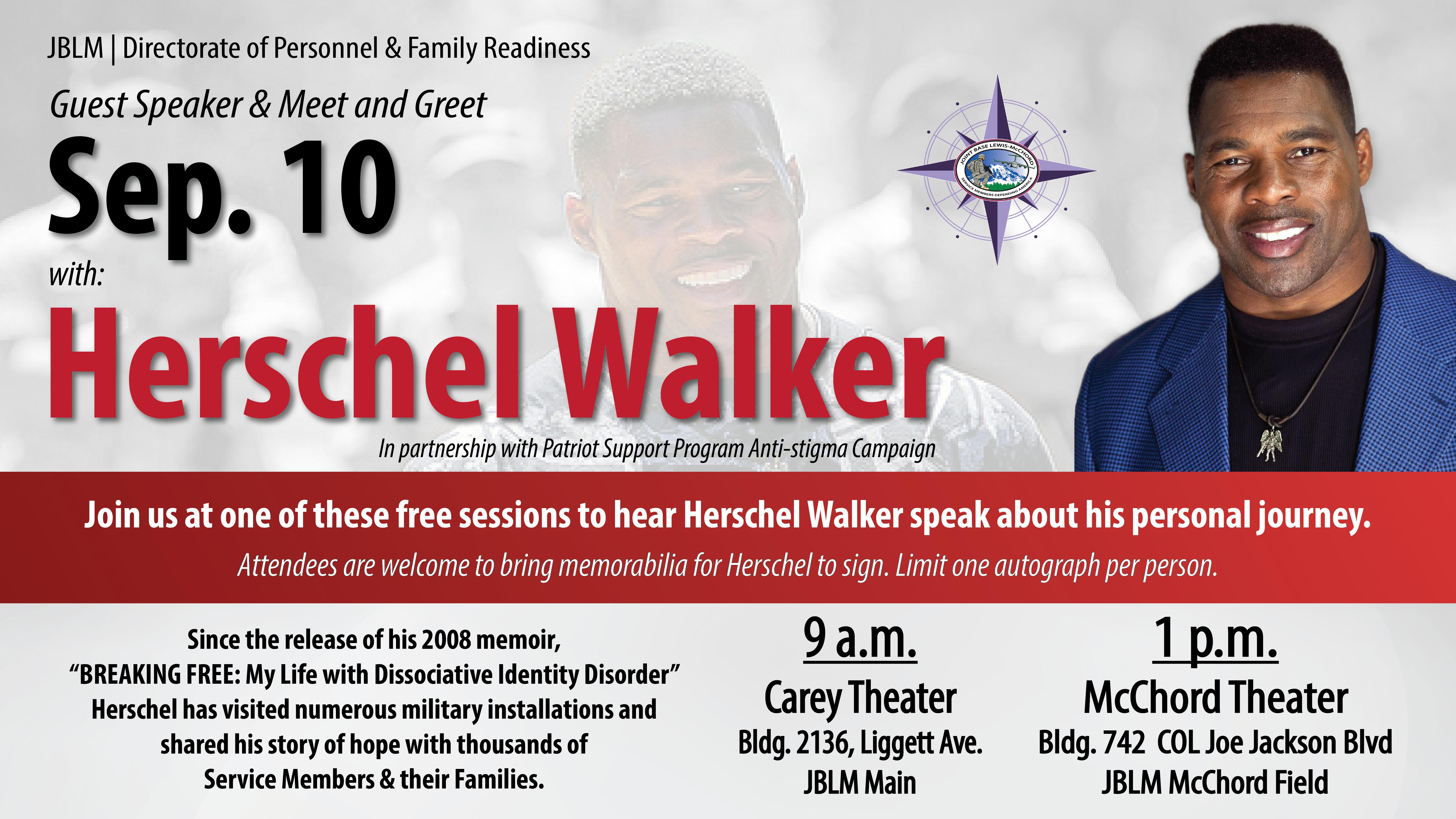 JBLM DPFR Presents: Herschel Walker