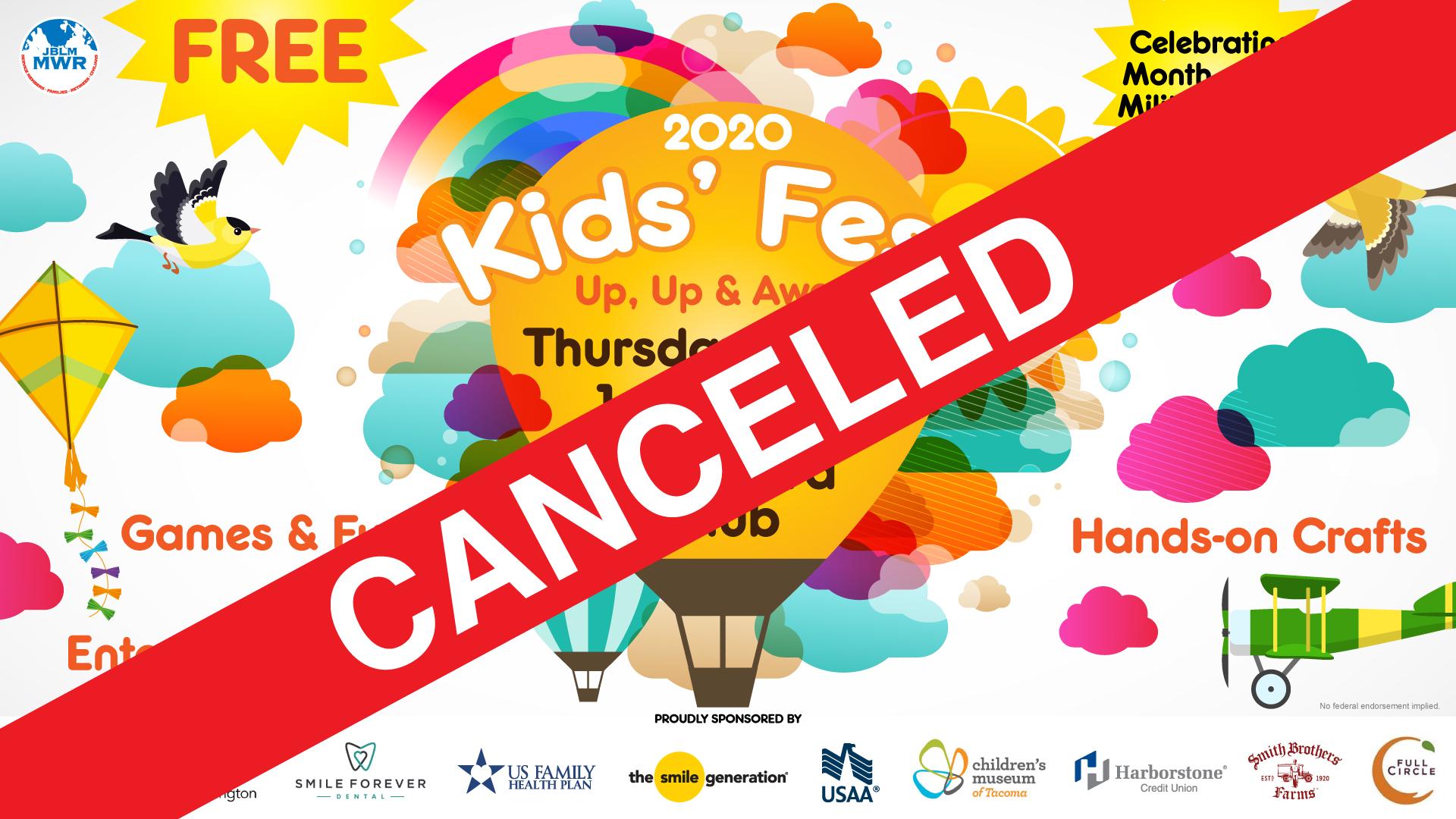Kids' Fest CANCELED