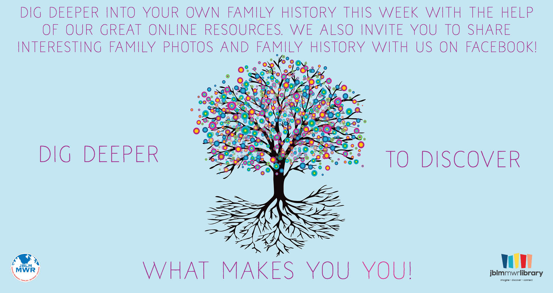 Virtual Summer Reading Program: Dig Deeper! Genealogy Week