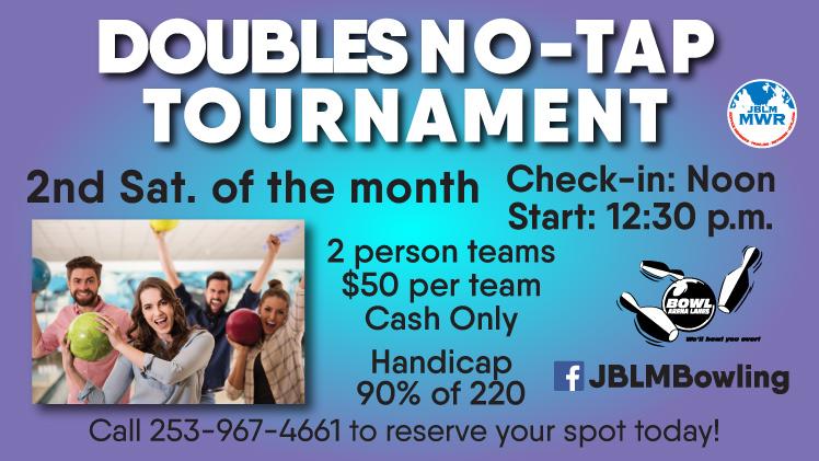 Doubles 9 Pin No-Tap Tournament
