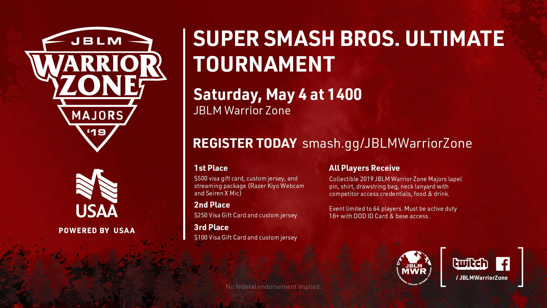 US Army MWR :: View Event :: Super Smash Bros  Ultimate Tournament