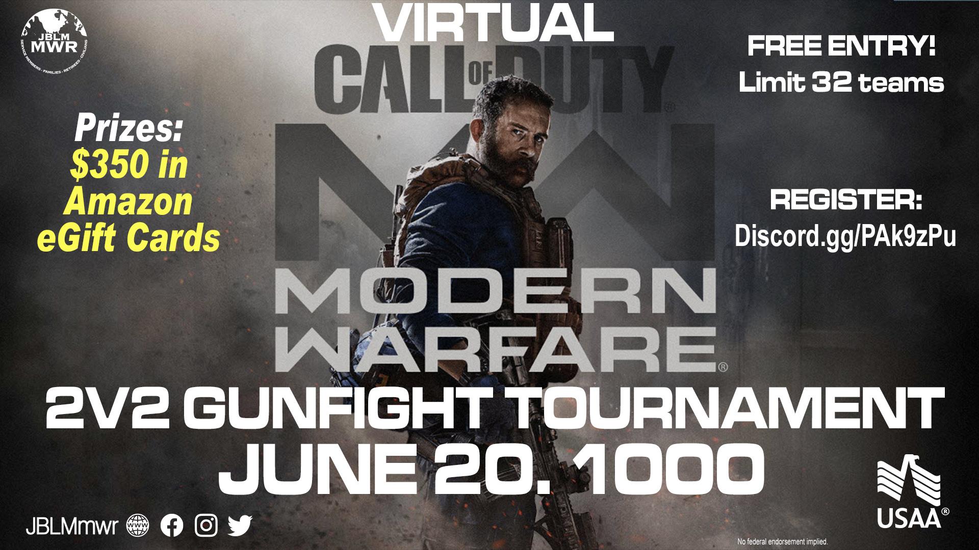 Virtual Call of Duty MW 2v2 Gunfight Tournament