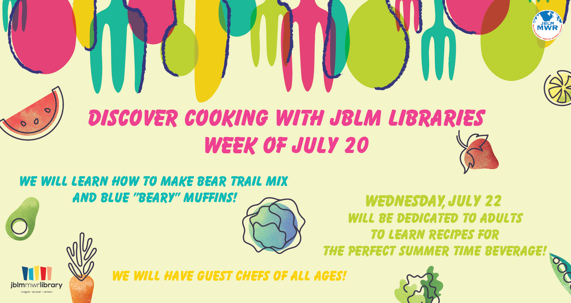 Virtual Summer Reading Program: Cooking with JBLM Libraries