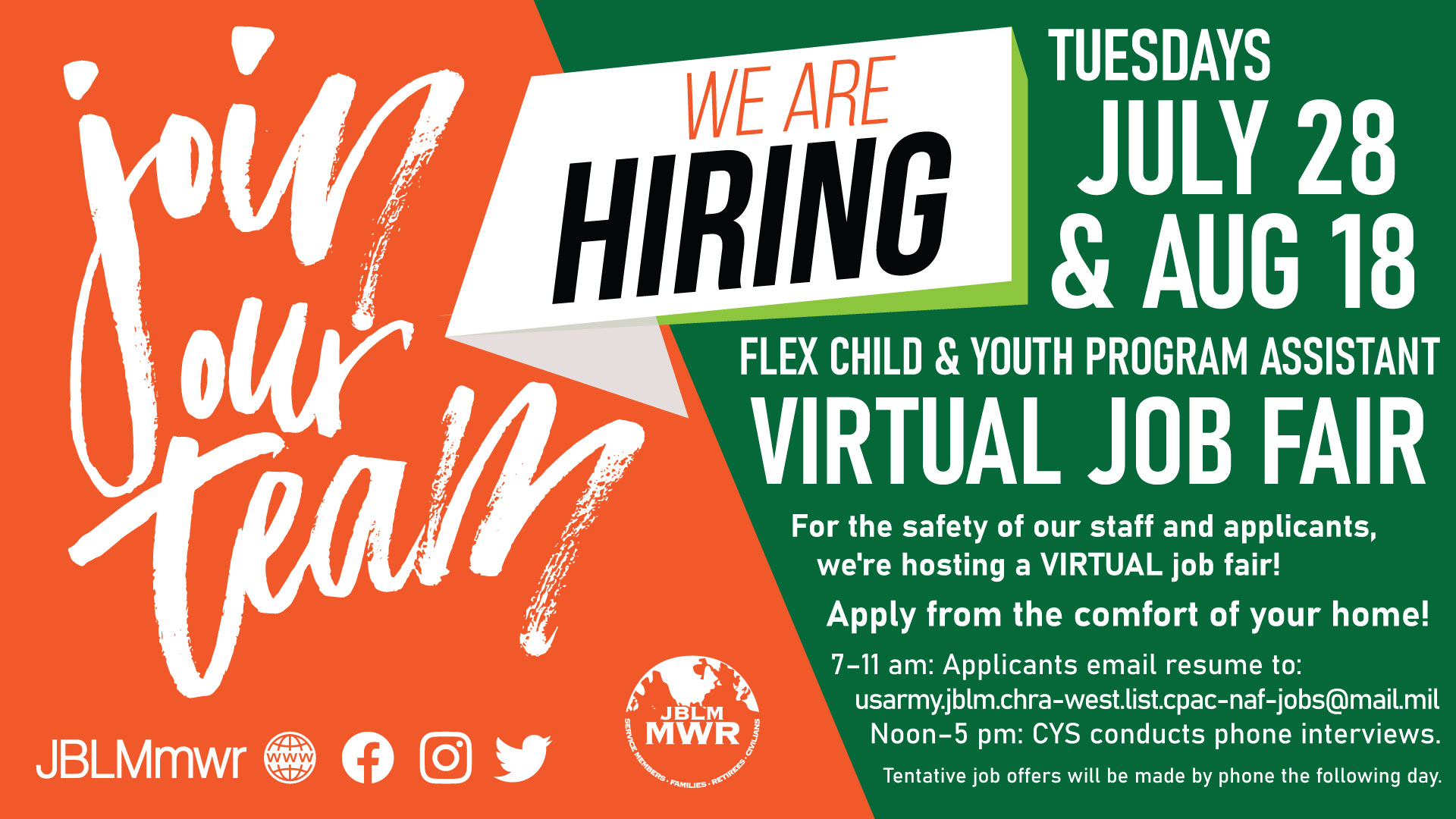 CYPA Virtual Job Fair