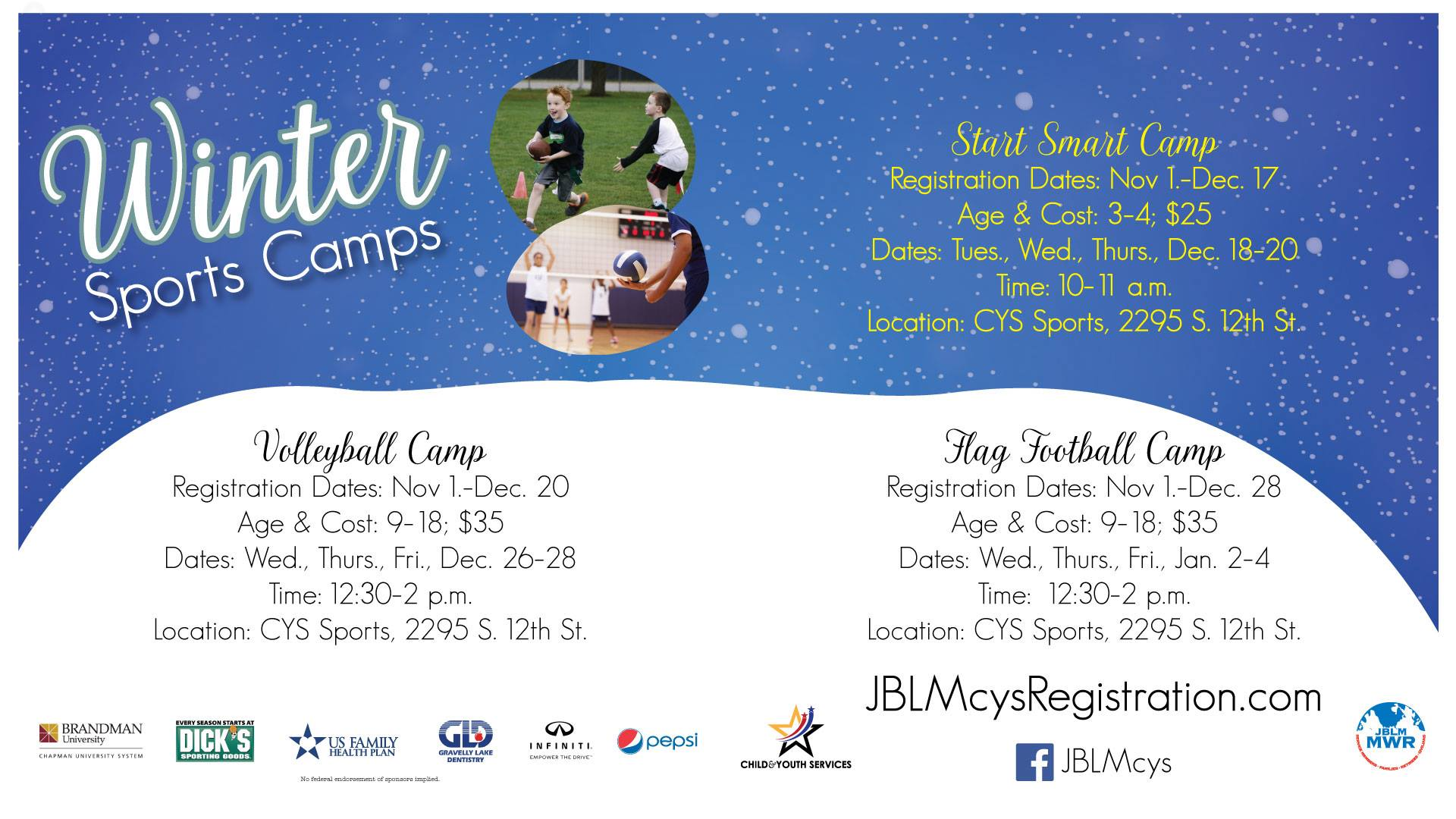 Winter Sports Camps Registration