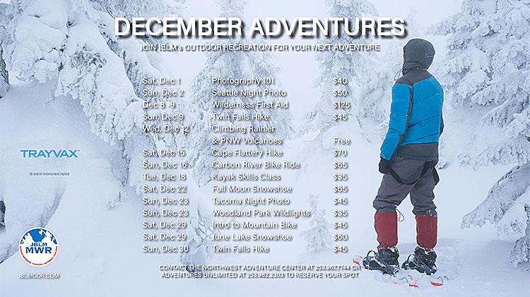 Outdoor Rec December Trips