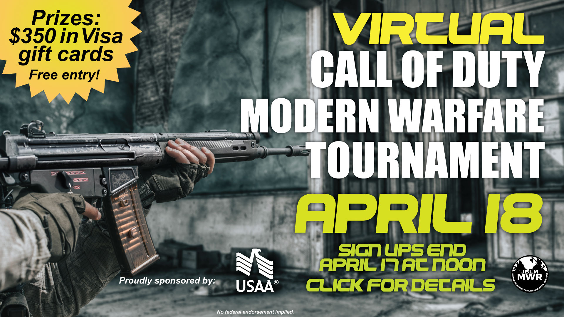 COD Modern Warfare 2v2 Virtual Tournament